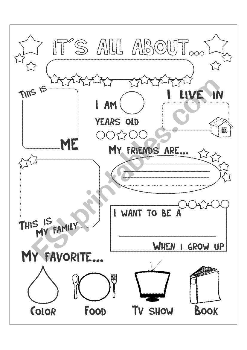 It´s all about me worksheet