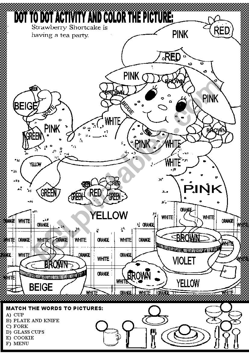 DOT TO DOT ACTIVITY AND COLOR THE PICTURE