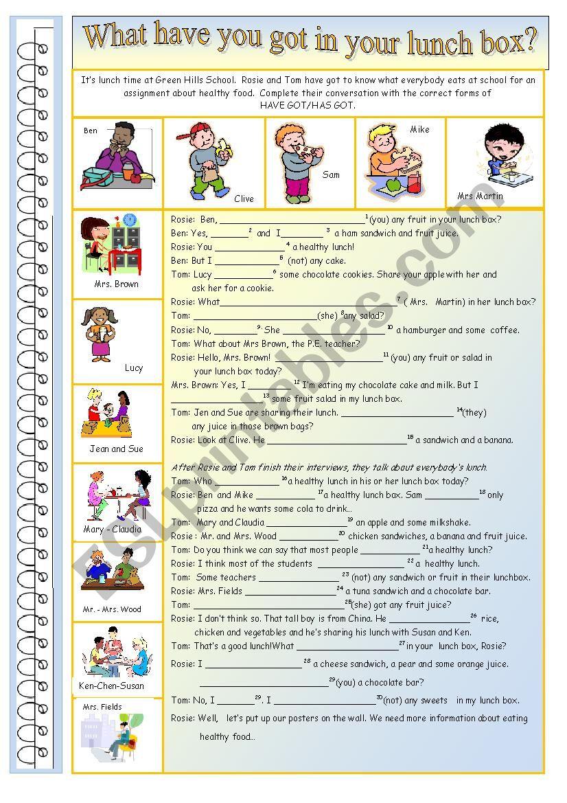 Have- Has got worksheet