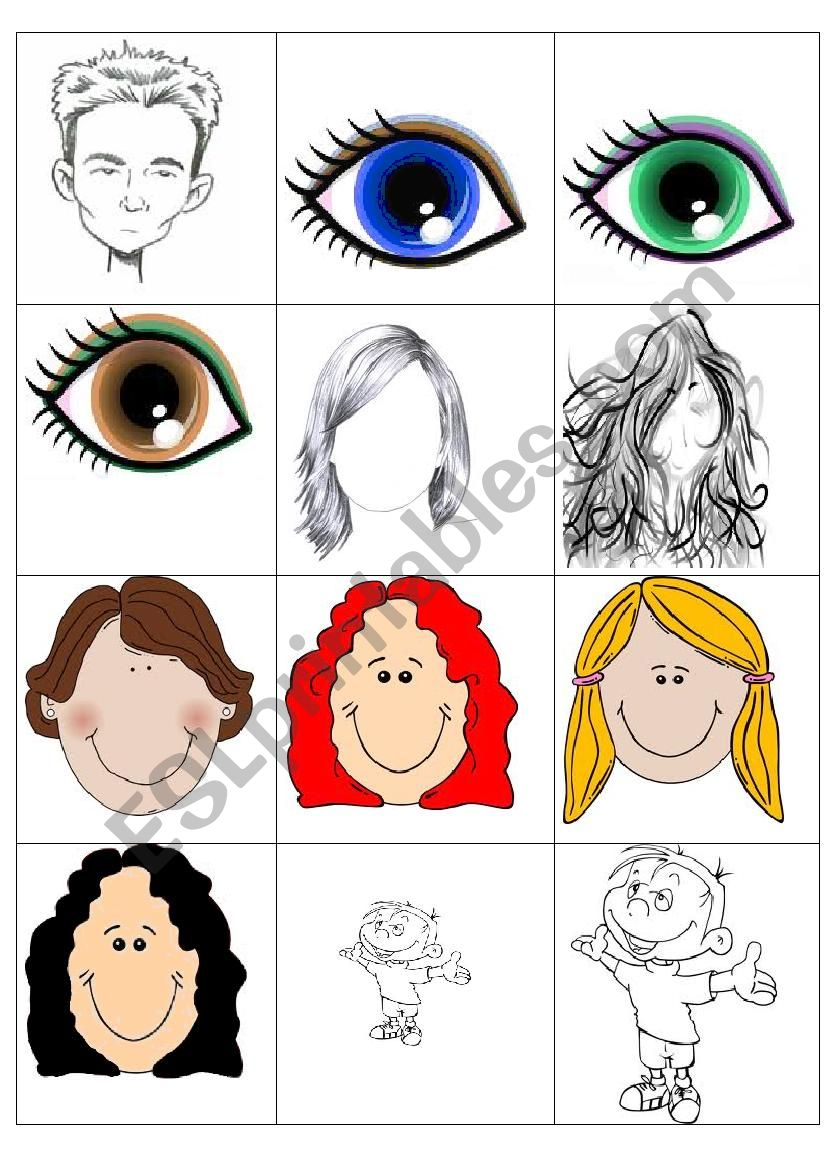 Physical appearance memory game