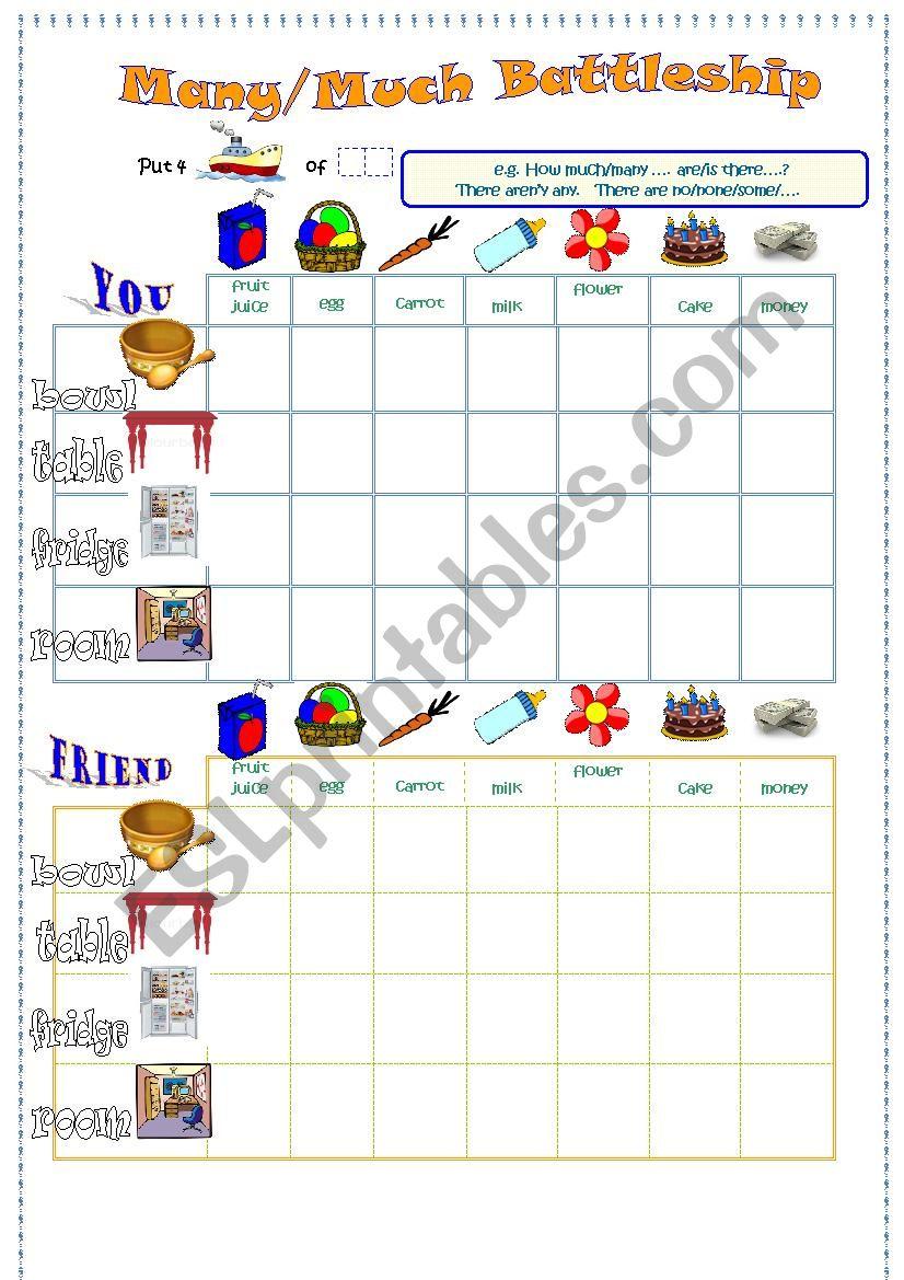 much/many battleships worksheet
