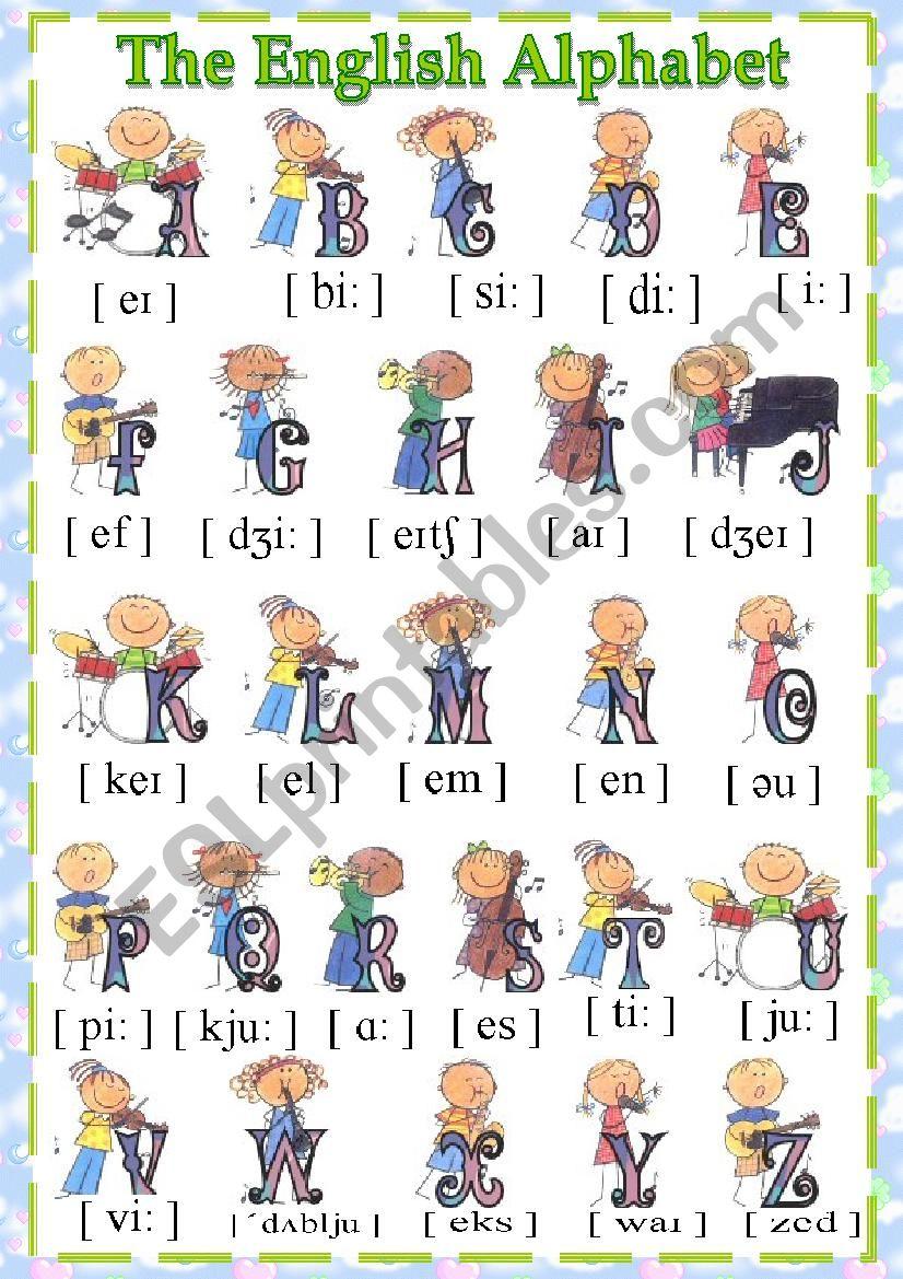 The English Alphabeth worksheet