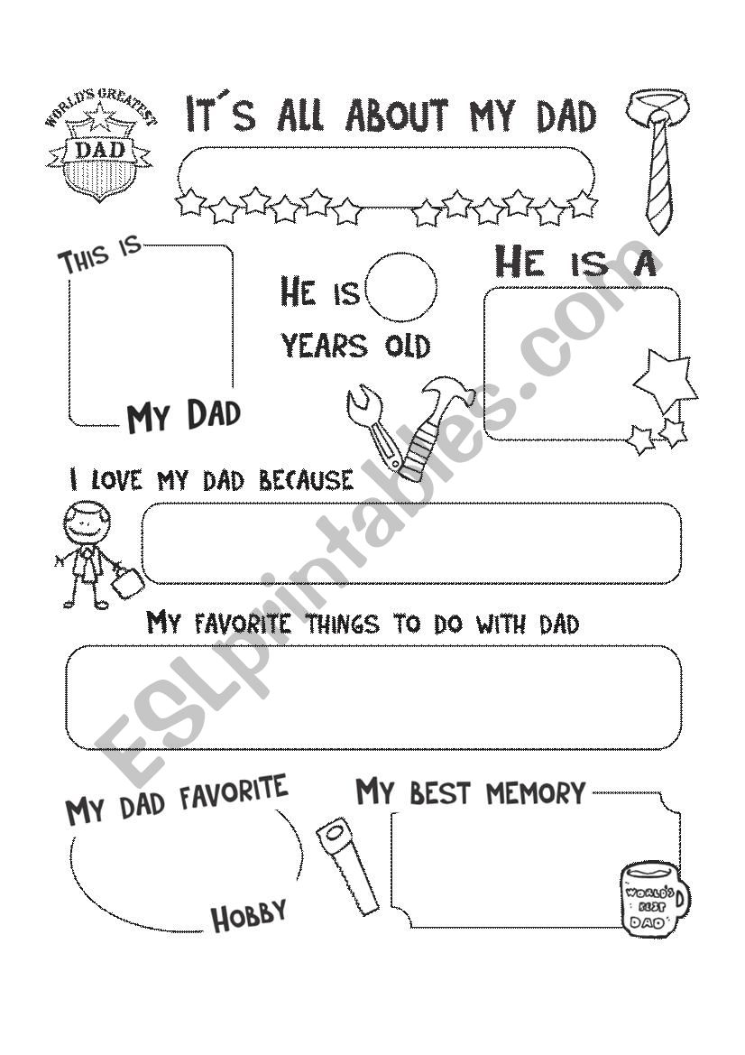It´s all about my dad worksheet
