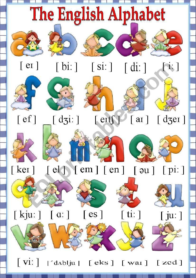 The English Alphabet worksheet