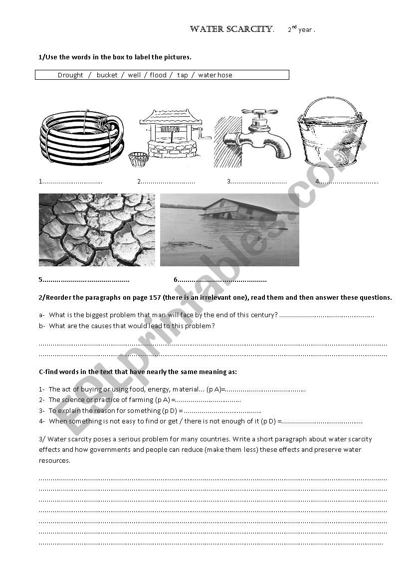 Lesson 28 water scarcity for 2nd year