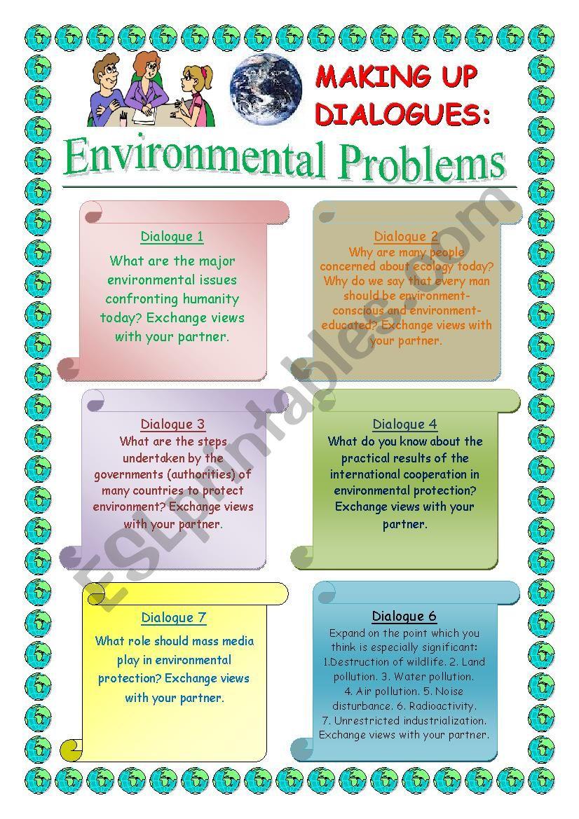 Making up Dialogues:  Environmental Problems