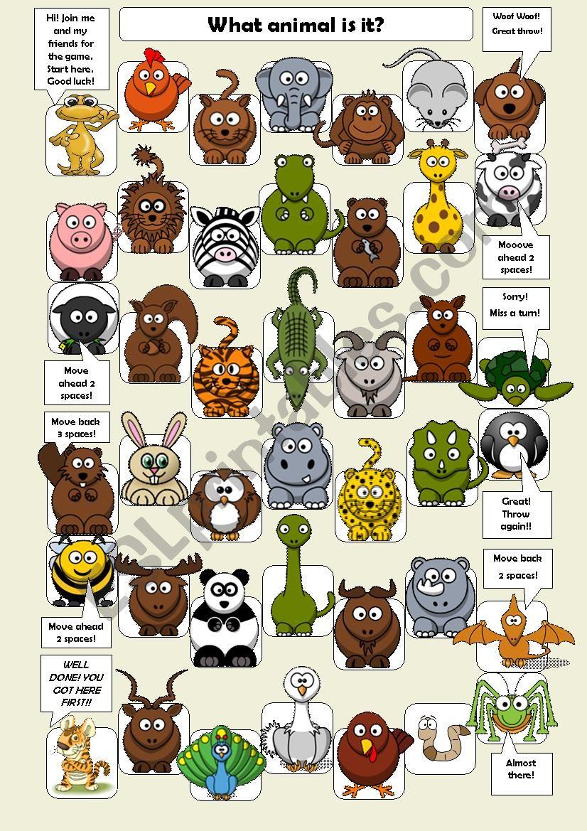 Animal Game  worksheet