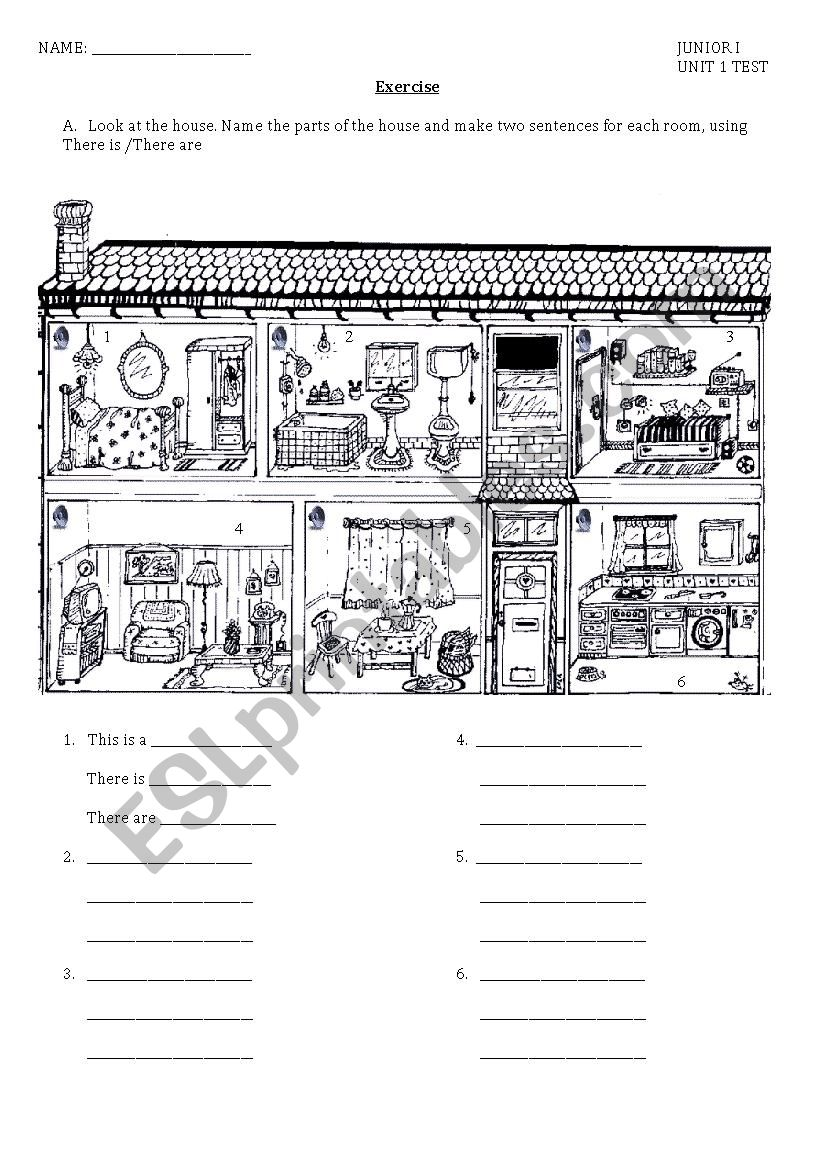 Describing the doll´s house worksheet
