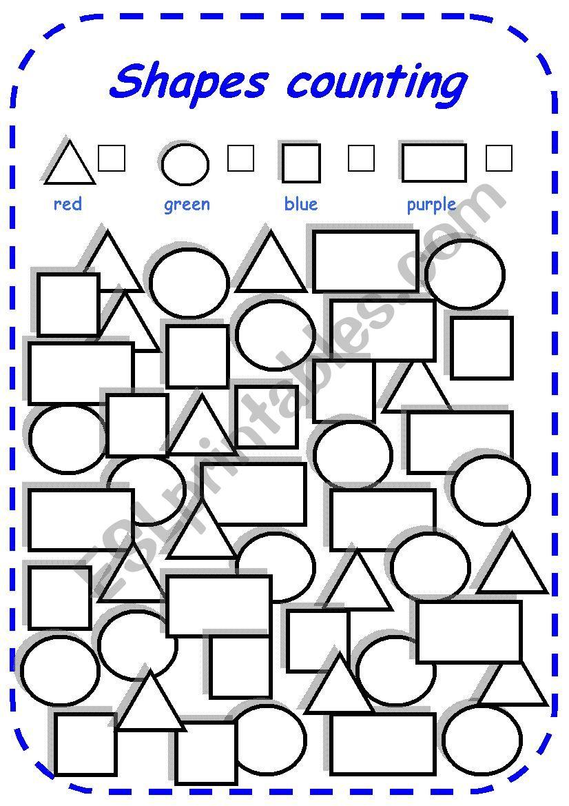 shapes counting esl worksheet by esti1975. Black Bedroom Furniture Sets. Home Design Ideas