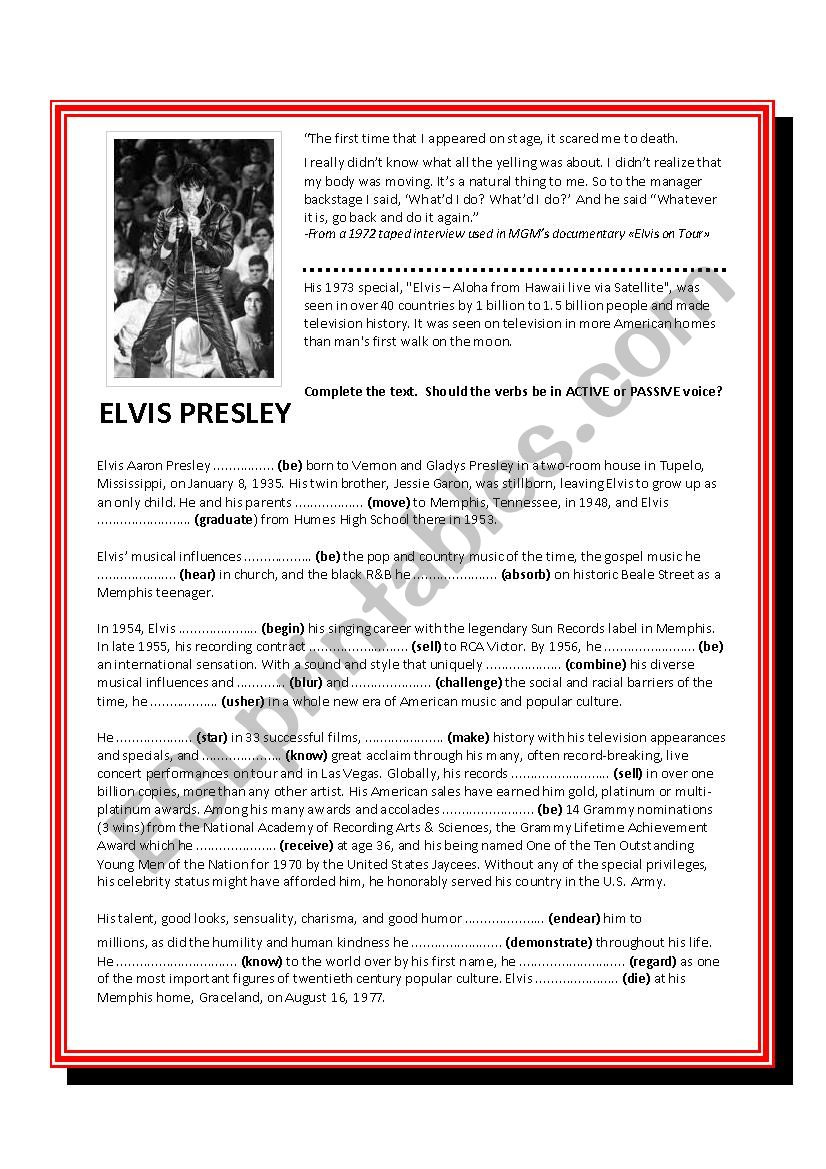 Elvis Presley - biography&song