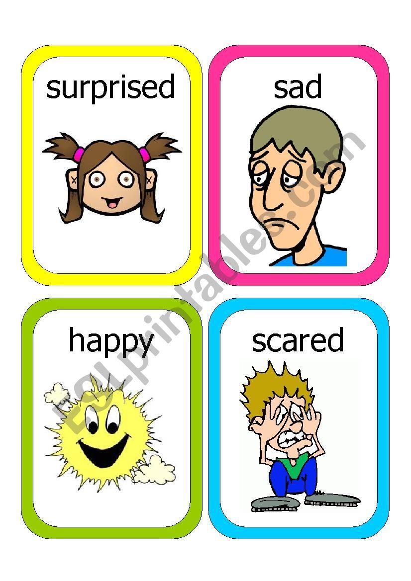 Feelings Flash Cards #1 worksheet