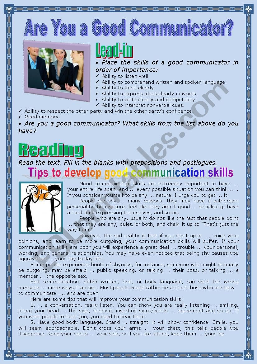 Are You a Good Communicator? worksheet