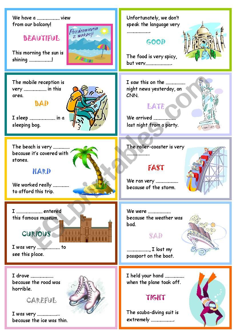 Adjective or adverb? worksheet