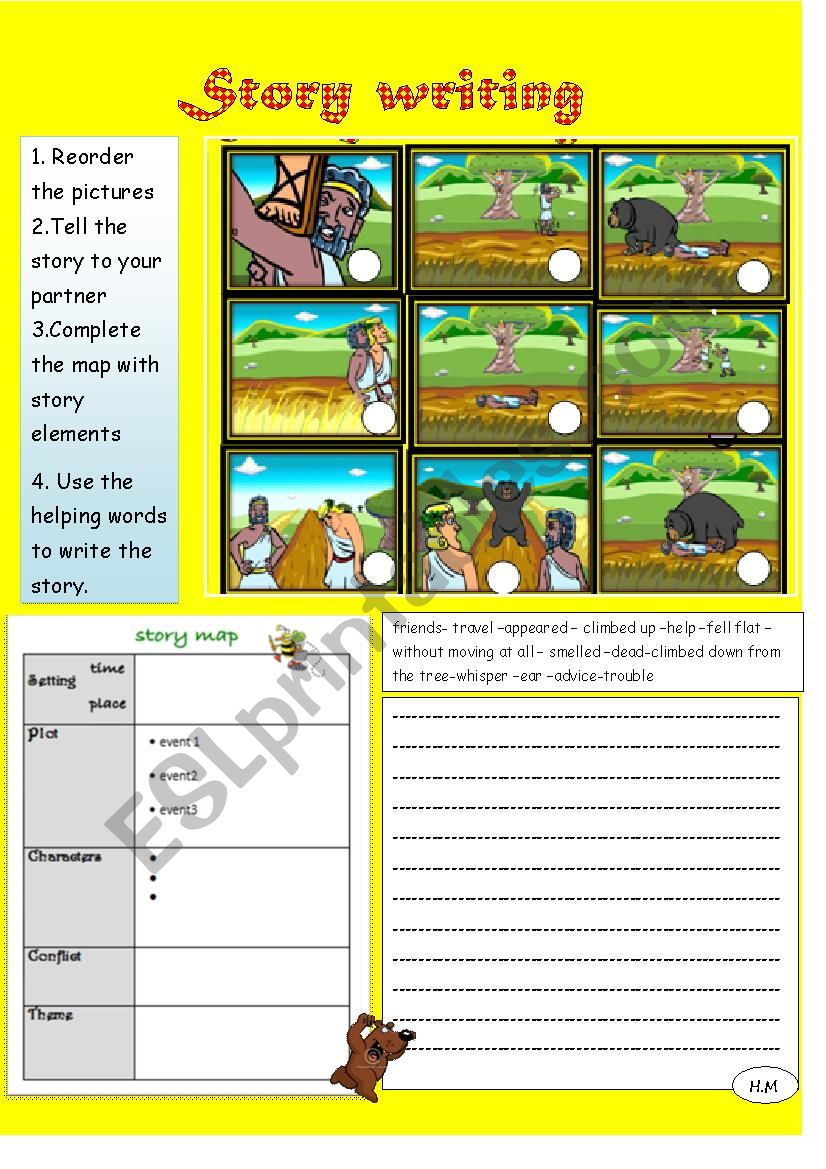 story writing worksheet