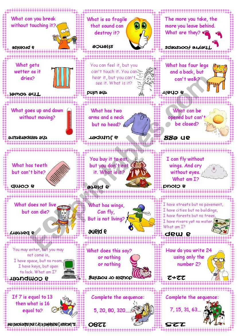 BrainTeasers, riddles & puzzles card game (set 2)
