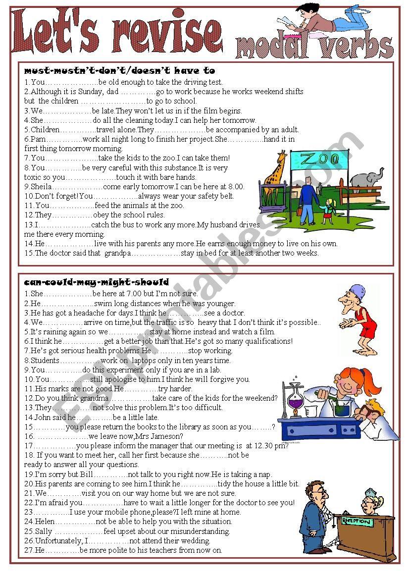 Let´s revise Modal Verbs worksheet