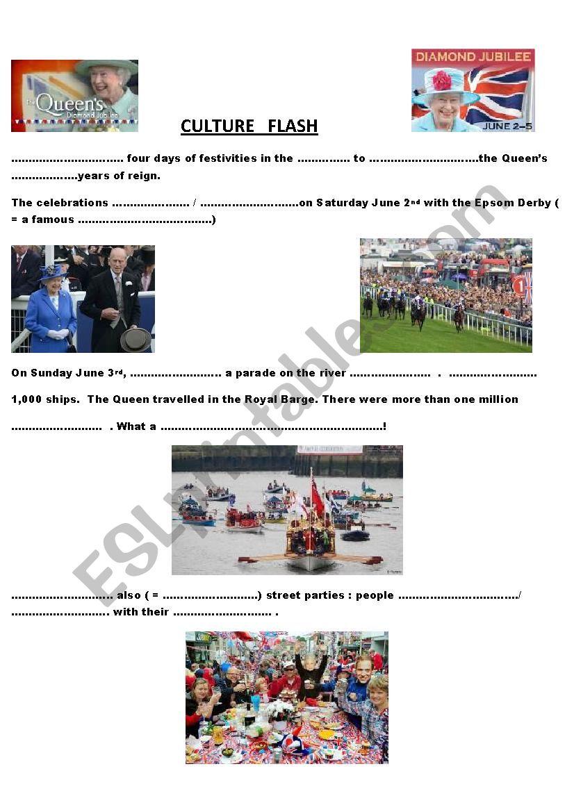 the Queen´s Jubilee worksheet