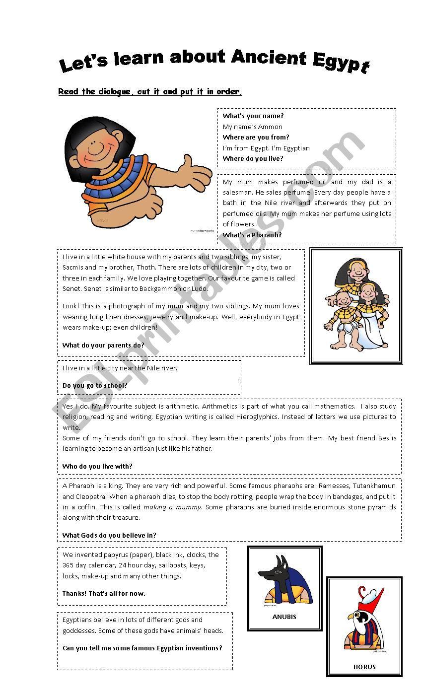 Ancient Egyptians worksheet