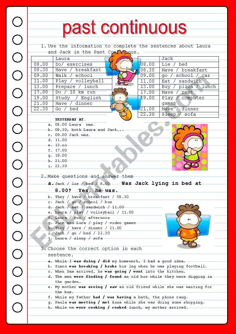 PAST TENSES worksheet