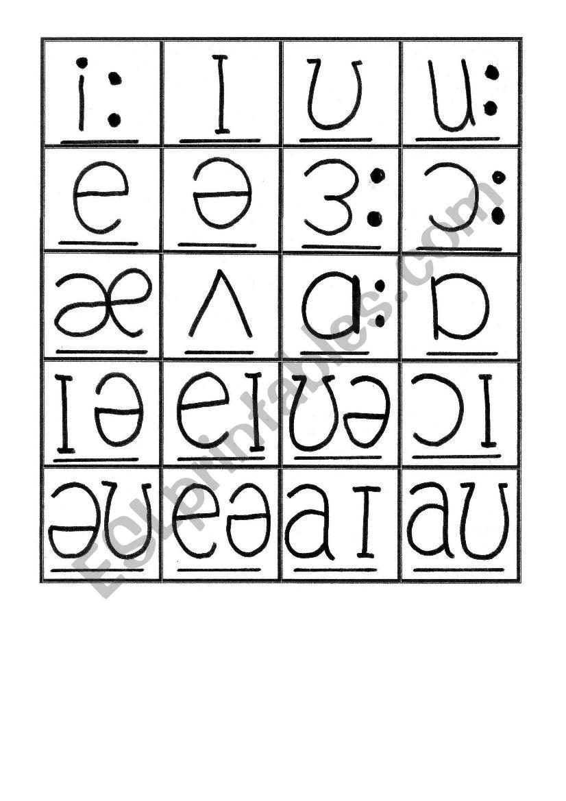 phonemic chart exercises pdf