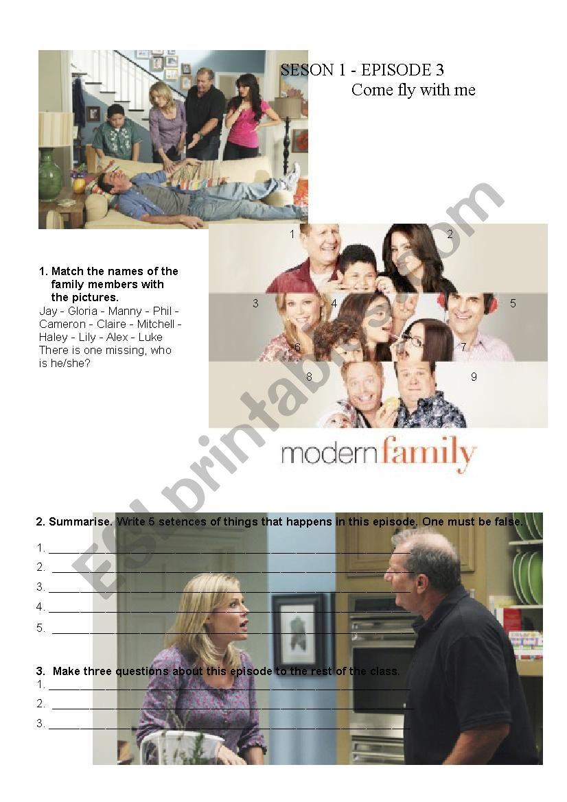 Modern Family Lesson Esl Worksheet By