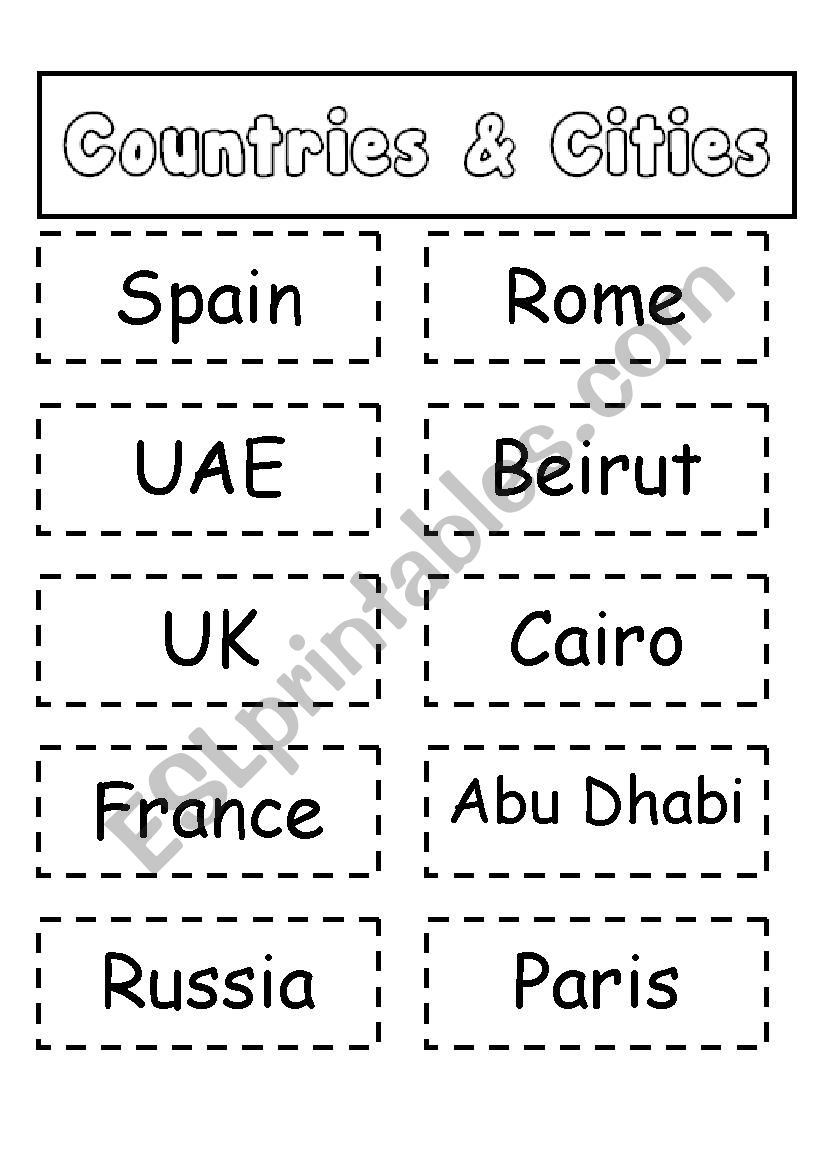 Countries and Cities Matching