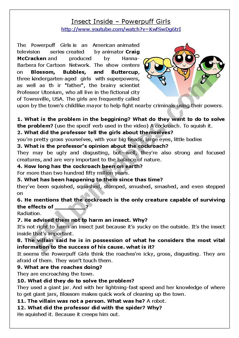 Advanced Listening - PowerPuff girls Cartoon Interpretation