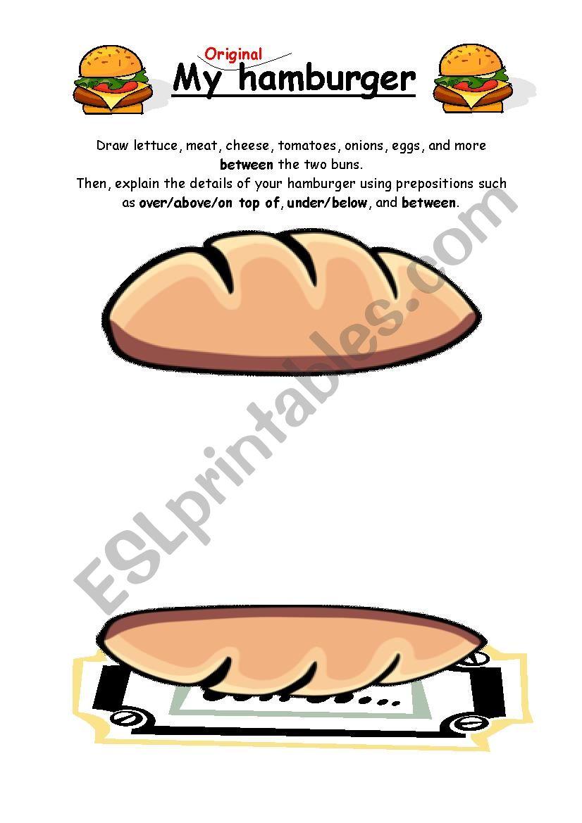 My Original Hamburger worksheet