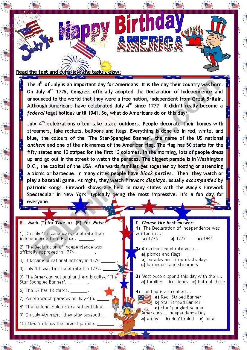 July 4th_ Happy Birthday America