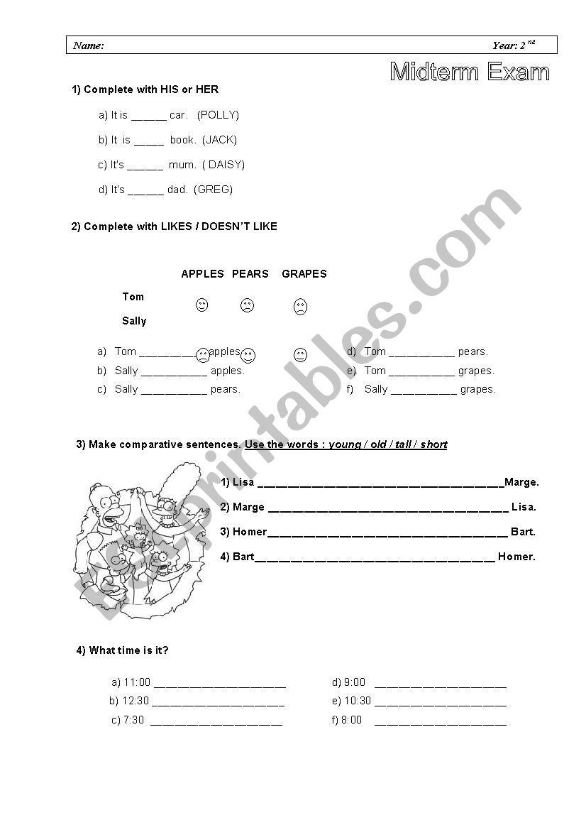Happy Street 2  Units 1-6  worksheet