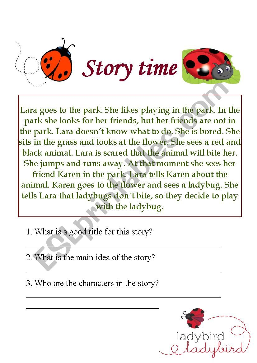 A simple story about a ladybug