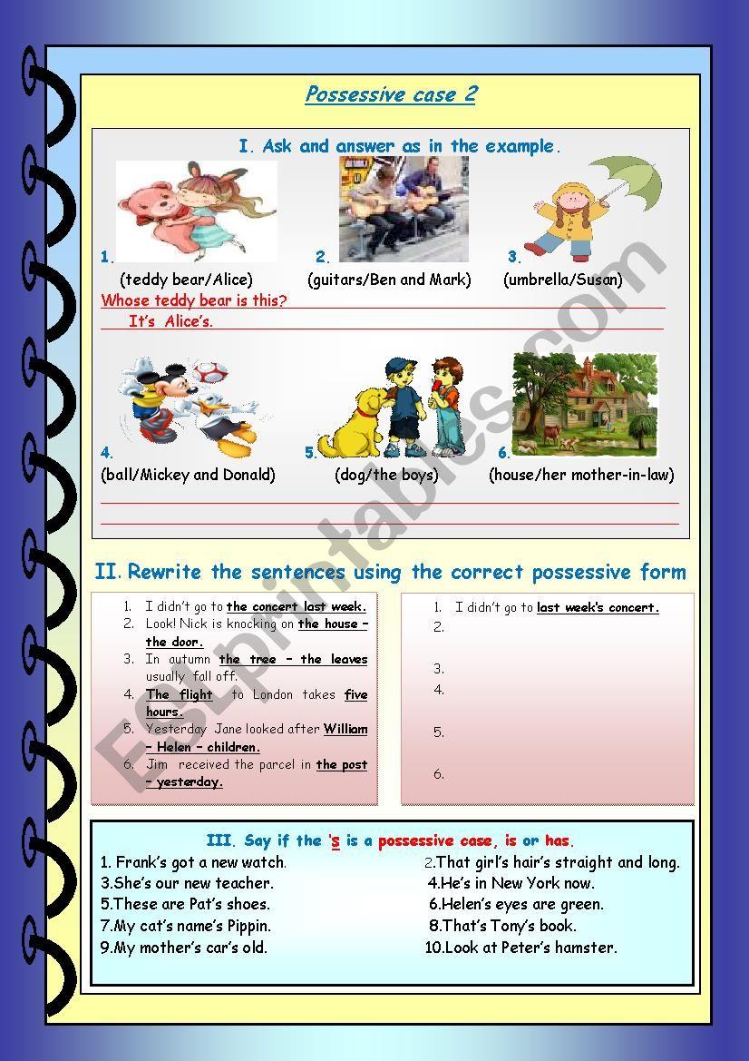 Possessive Case2 worksheet