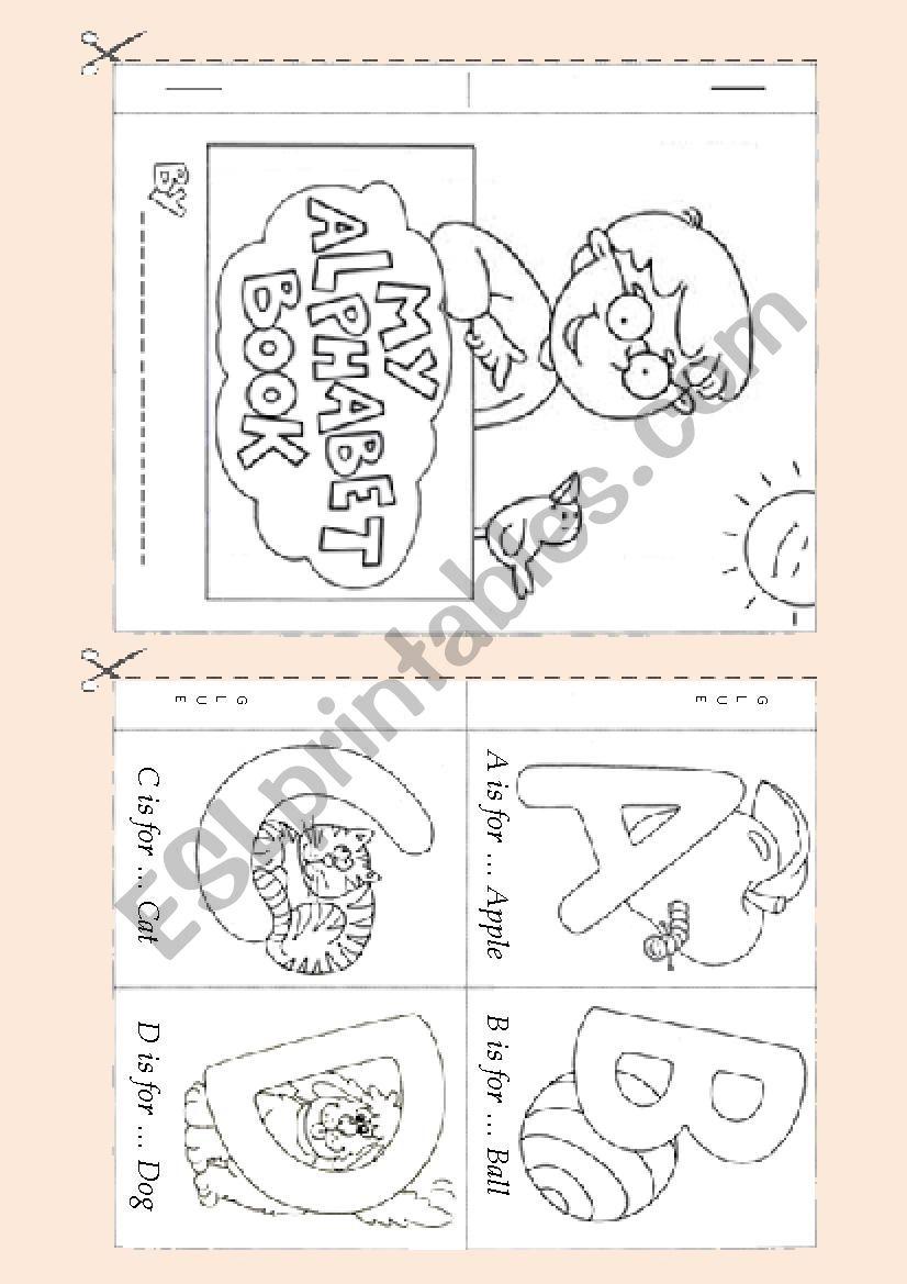 Alphabet  Booklet 1 worksheet