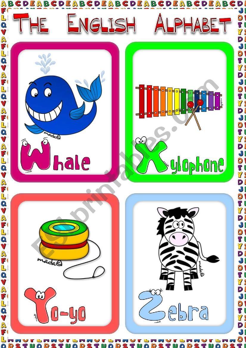 The English Alphabet - flashcards (4)