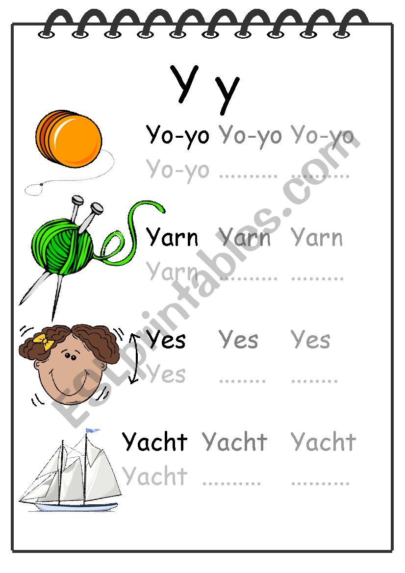 Alphabet Writing Worksheet Y worksheet