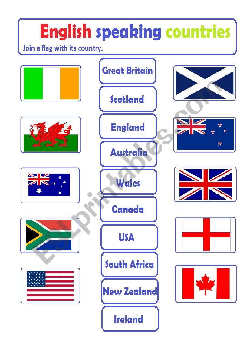 english speaking countries flags Flashcards and ... - Quizlet