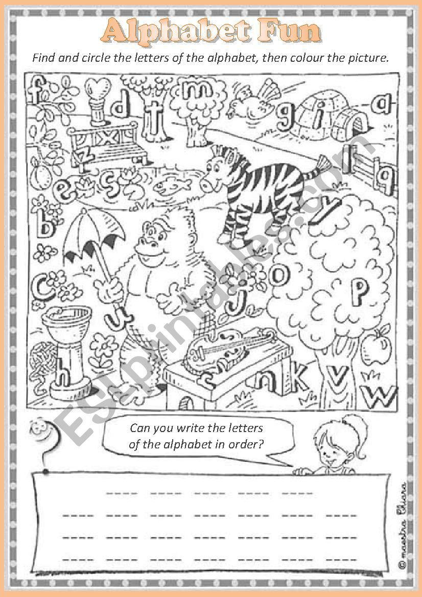 Alphabet  Fun worksheet
