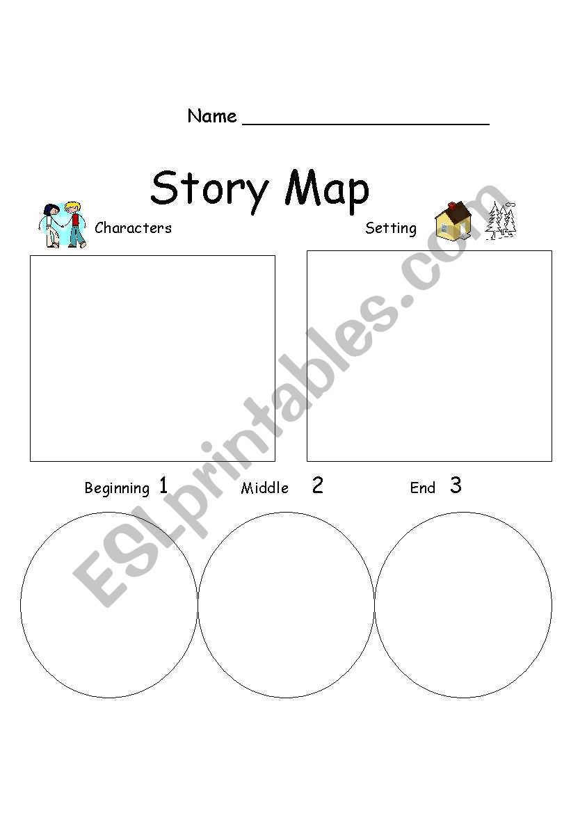 photo about Printable Story Maps called Tale Map - ESL worksheet through mollym
