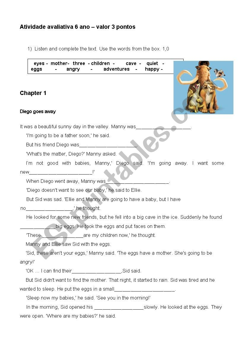 Ice Age - ESL worksheet by tiajo