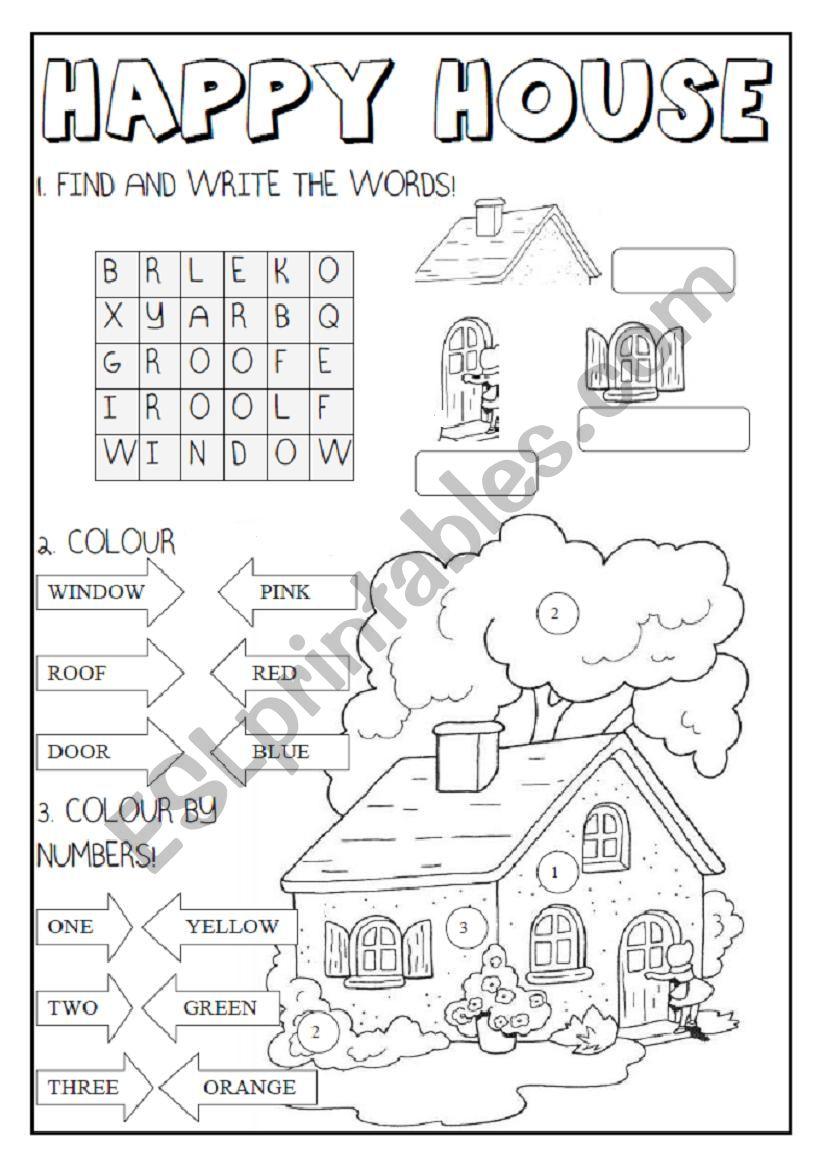 Happy House  worksheet
