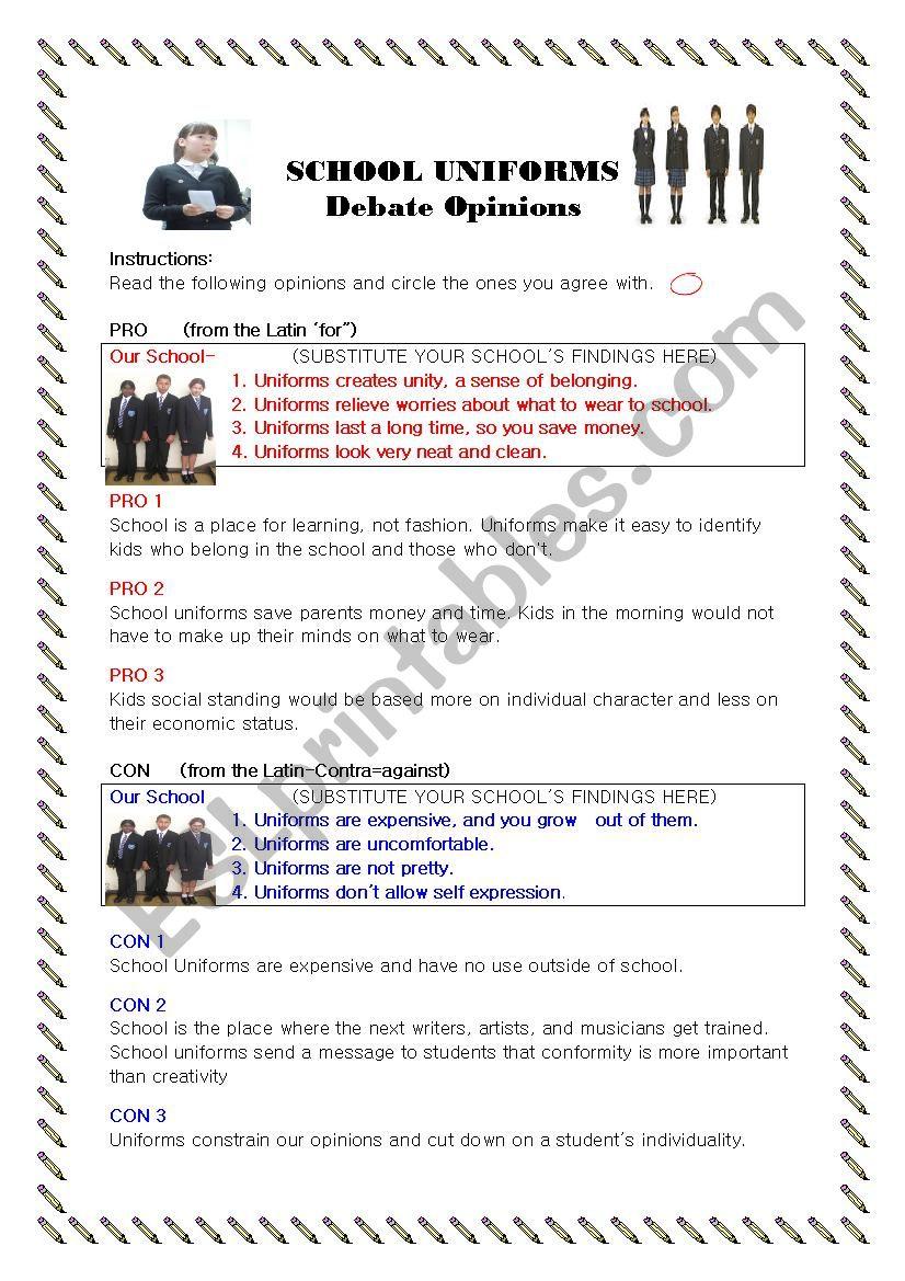 uniform debate