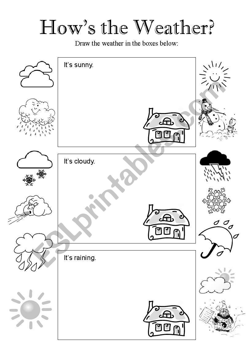 How´s the Weather - Page 1 worksheet
