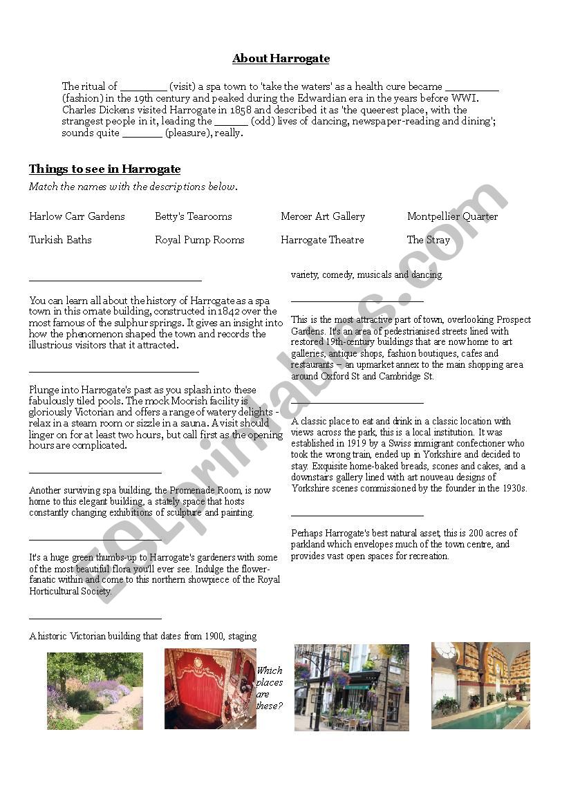Harrogate worksheet