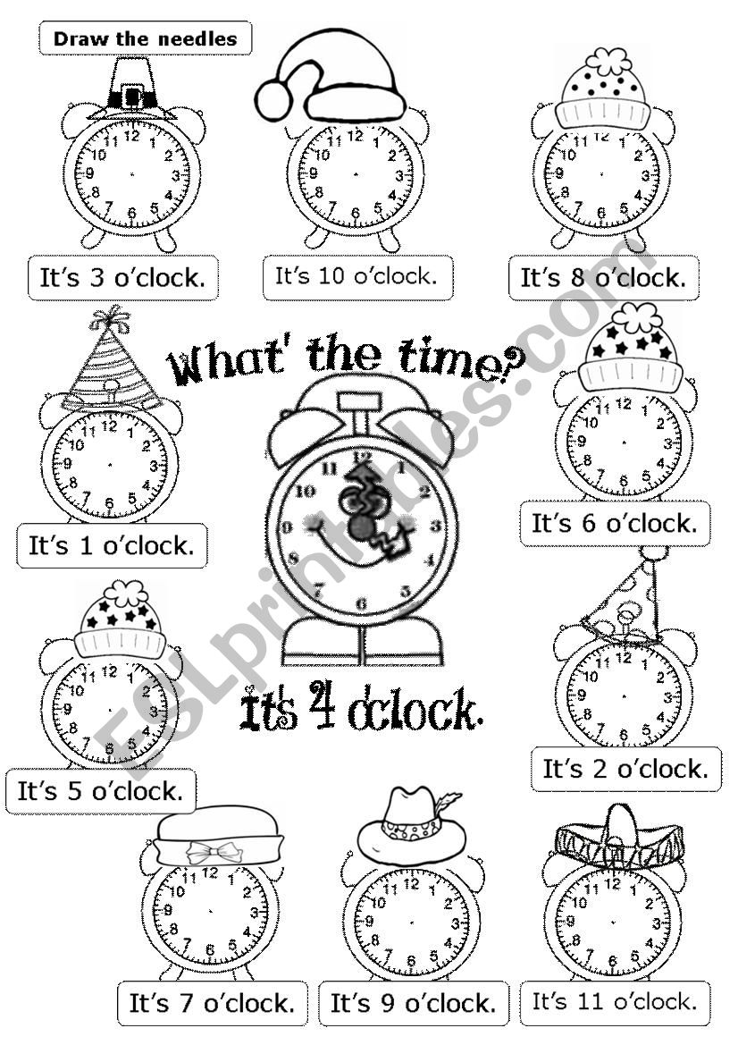 WHAT´S THE TIME? It´s ... O´CLOCK,
