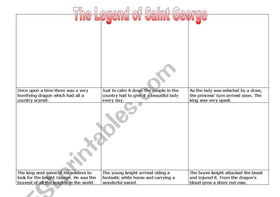 Saint George and the dragon worksheet