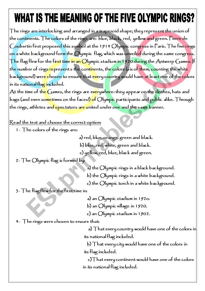 What is the meaning of the Olympic rings?