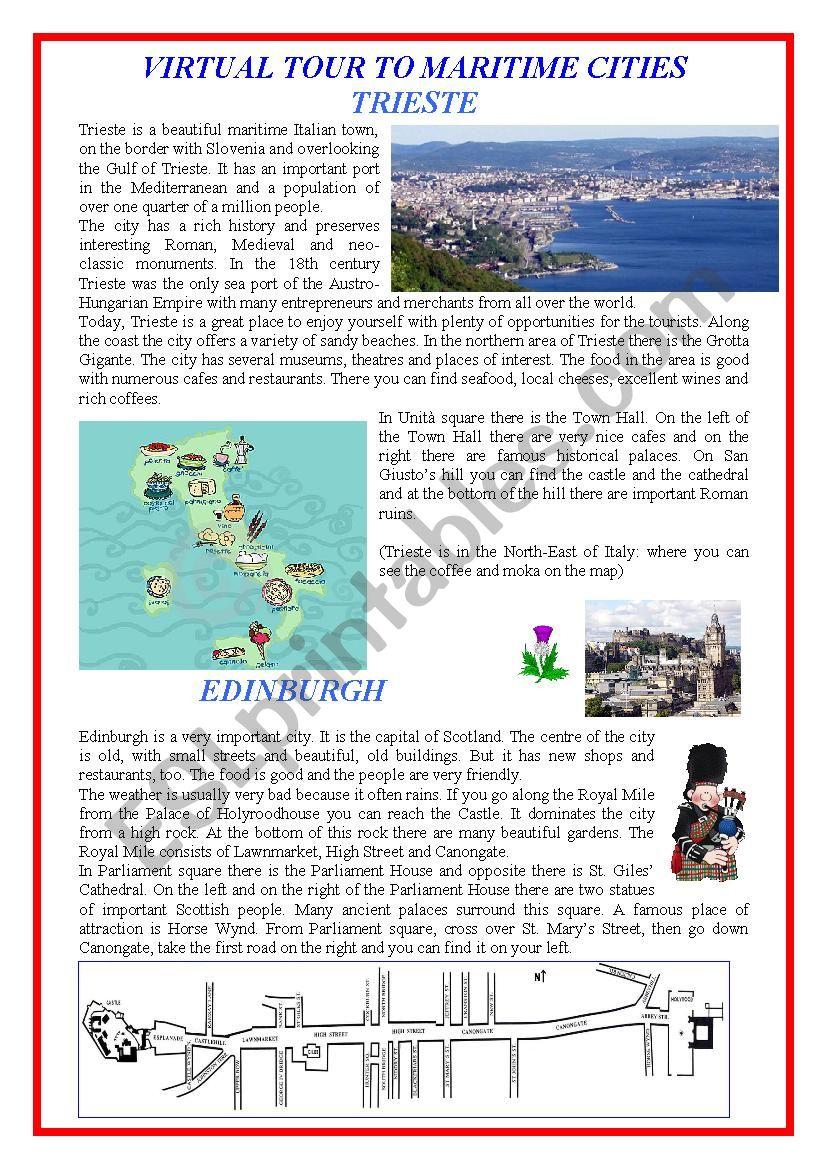 London, Edinburgh, Trieste: a Virtual Tour to Maritime Cities