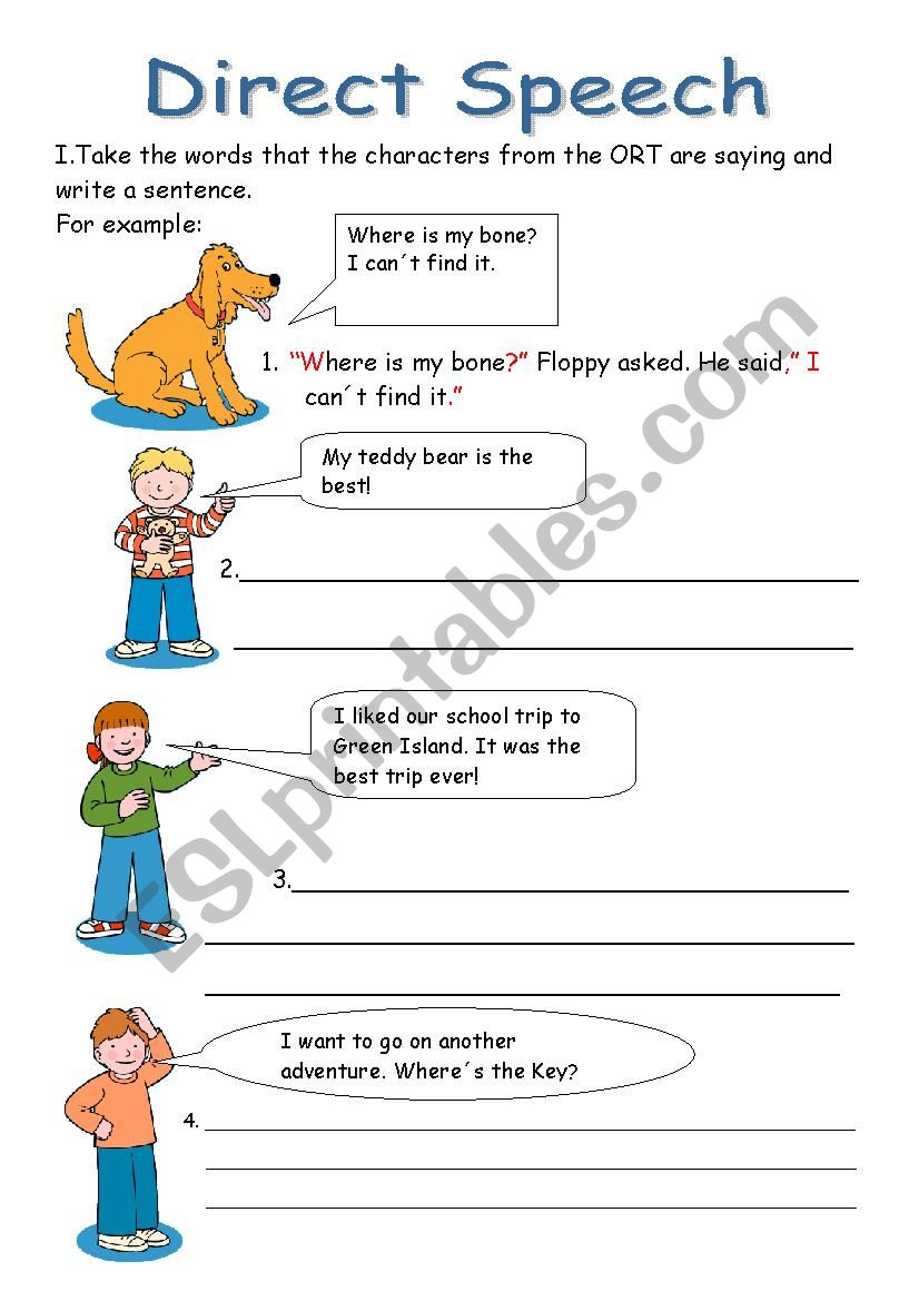 Punctuating Direct Speech Worksheet: punctuating direct speech worksheet punctuating direct speech ,