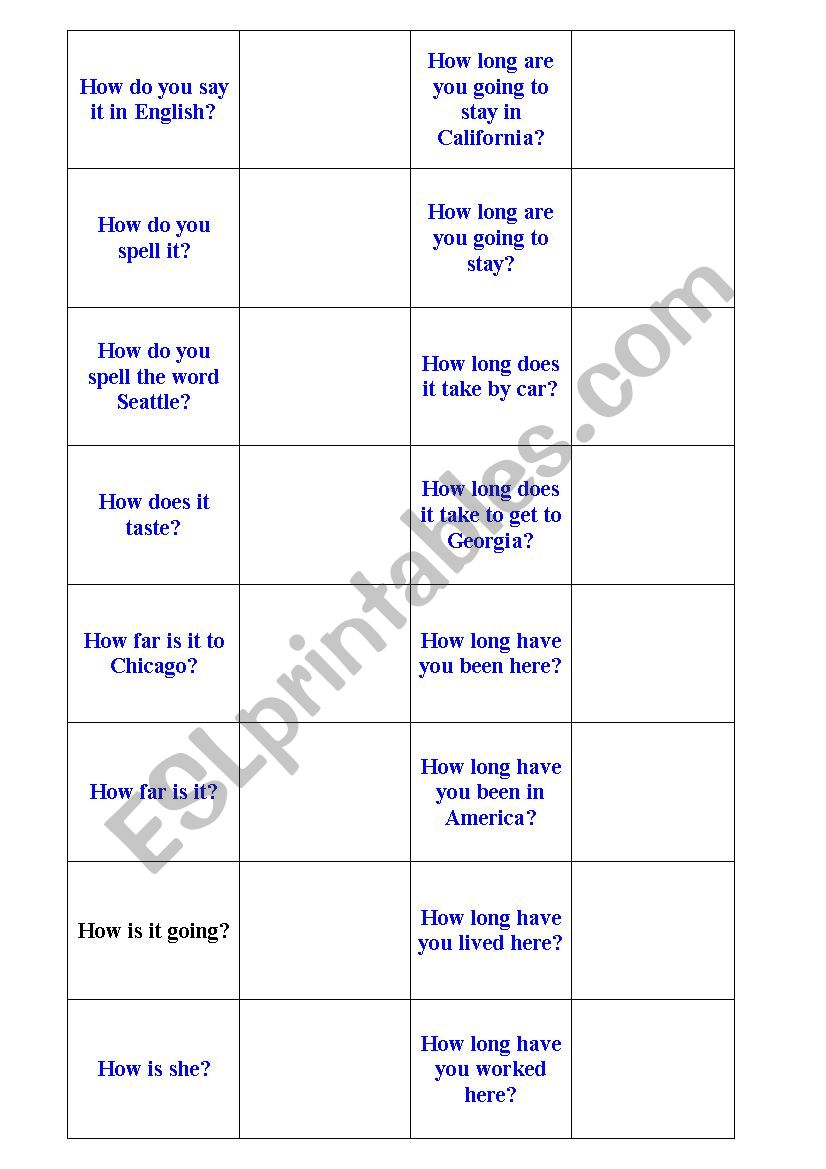 1000 most common English phrases flashcards set 2 of 4 - ESL