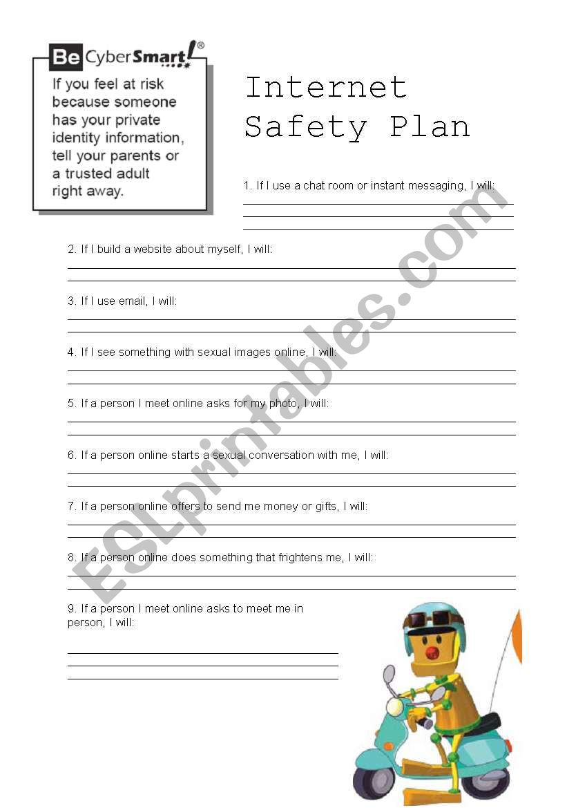 It's just a picture of Lucrative Free Printable Internet Safety Worksheets